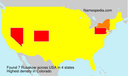 Surname Rusakow in USA