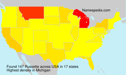 Surname Russette in USA