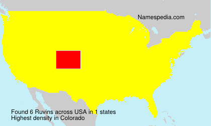 Surname Ruvins in USA