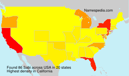 Surname Sabi in USA