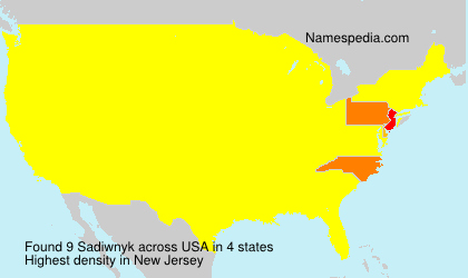 Surname Sadiwnyk in USA