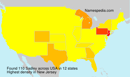 Surname Sadley in USA