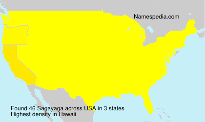 Surname Sagayaga in USA