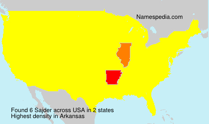 Surname Sajder in USA