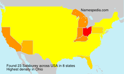Surname Salsburey in USA
