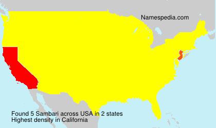 Familiennamen Sambari - USA