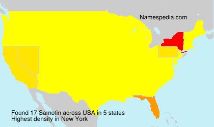 Surname Samotin in USA