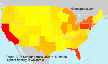 Surname Sandor in USA