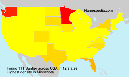 Surname Santjer in USA
