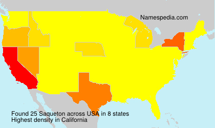 Surname Saqueton in USA