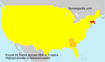 Surname Sartre in USA