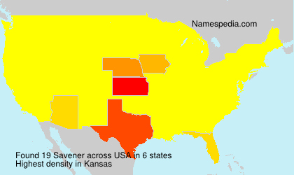 Surname Savener in USA