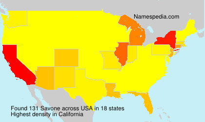 Surname Savone in USA