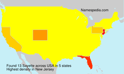 Surname Sayette in USA