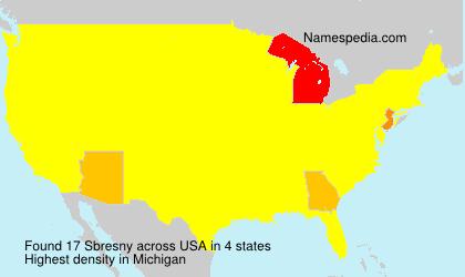 Familiennamen Sbresny - USA
