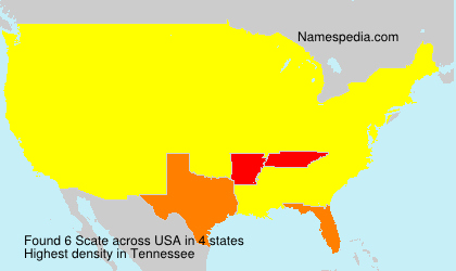 Surname Scate in USA