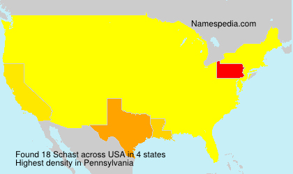 Surname Schast in USA