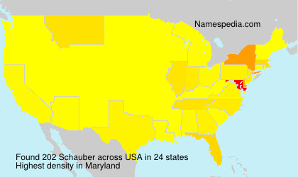 Surname Schauber in USA