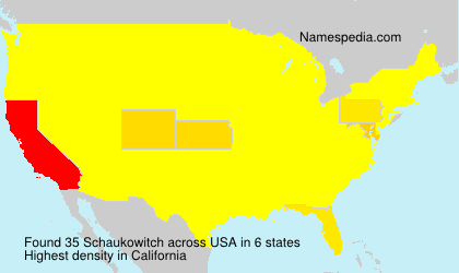 Surname Schaukowitch in USA