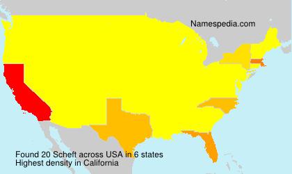 Familiennamen Scheft - USA