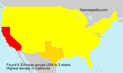 Surname Schnaas in USA