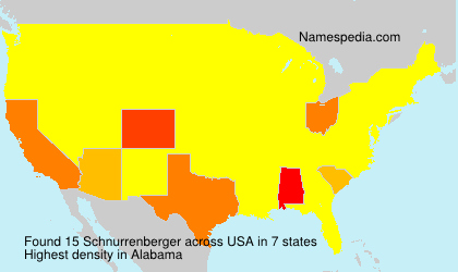 Surname Schnurrenberger in USA