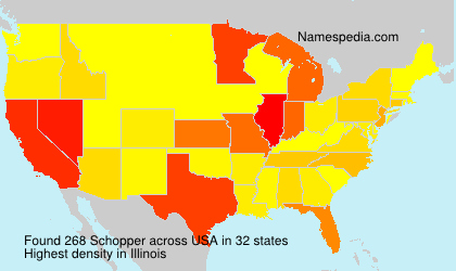 Surname Schopper in USA