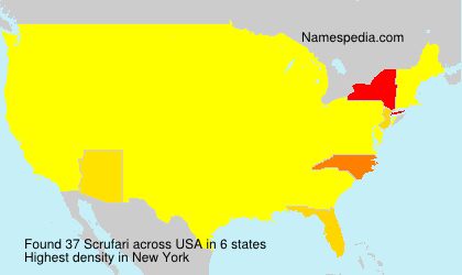 Surname Scrufari in USA
