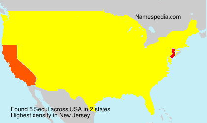 Surname Secul in USA