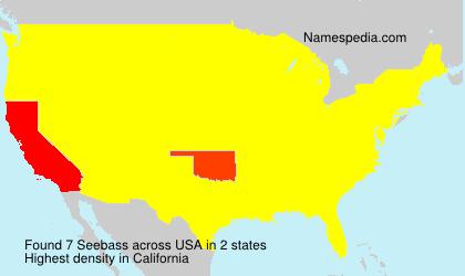Familiennamen Seebass - USA