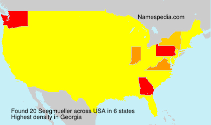 Surname Seegmueller in USA