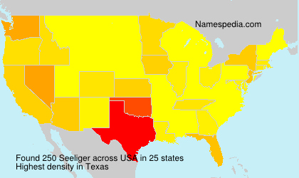 Surname Seeliger in USA