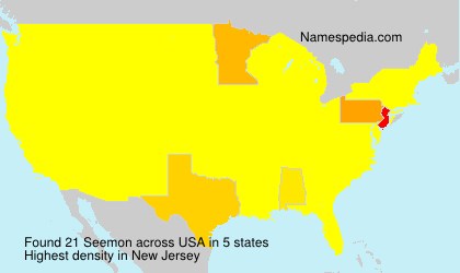Surname Seemon in USA