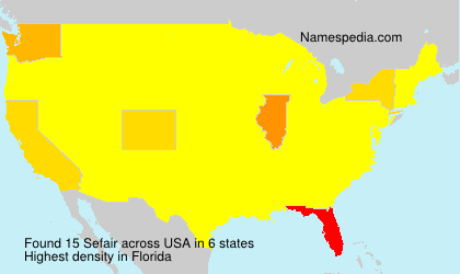 Surname Sefair in USA