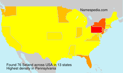 Surname Seland in USA