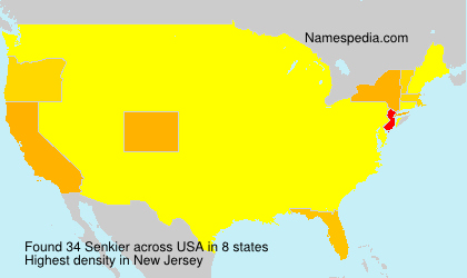 Surname Senkier in USA