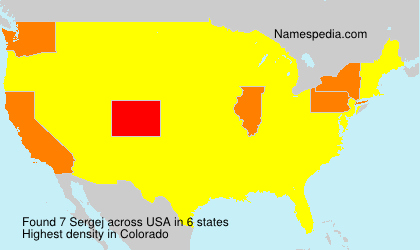 Surname Sergej in USA