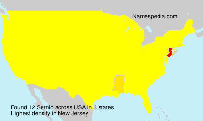 Surname Sernio in USA