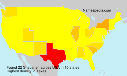 Surname Shabaneh in USA