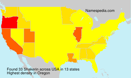 Surname Shakerin in USA