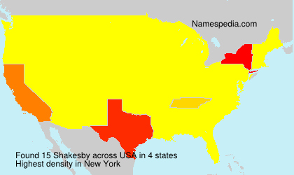 Surname Shakesby in USA