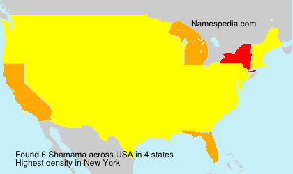 Surname Shamama in USA