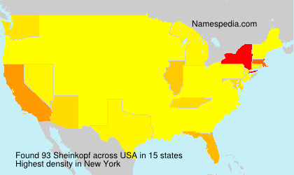 Surname Sheinkopf in USA