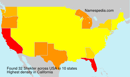 Surname Shekter in USA