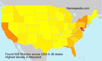 Surname Shenton in USA