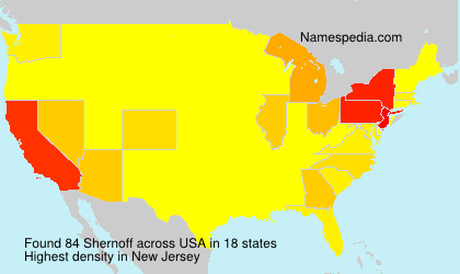Surname Shernoff in USA