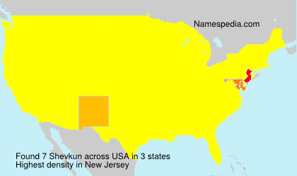 Surname Shevkun in USA
