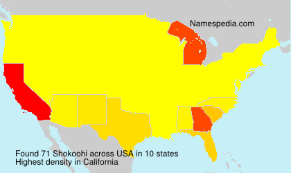 Surname Shokoohi in USA