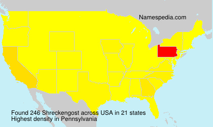 Surname Shreckengost in USA