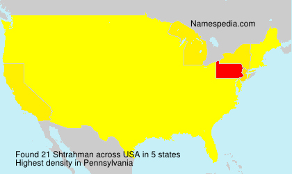 Surname Shtrahman in USA